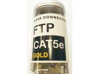 Коннектор RJ45 FTP Cat 5E Gold 100 шт.