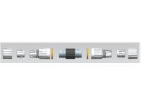 Влагозащищенный разъем-соеденитель RJ45 с позолоченными контактами.