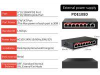PoE коммутатор (свитч) 6 PoE портов + 2 UpLink.